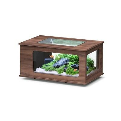 Zolux-Aqua Table- Aquarium Led 100X100 Noyer Fonce