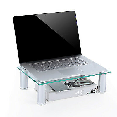 TAVR Clear Computer Monitor Stand 15 inch Save Space Desktop Stand CM2002