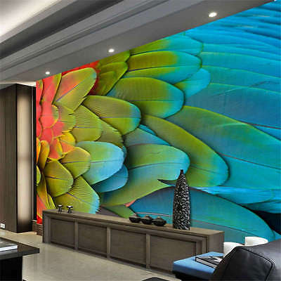 Parrot Wing Feathers Full Wall Mural Photo Wallpaper Print Kids Home 3D Decal
