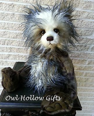 """Handmade Collectable 2016 Fully Jointed Charlie Bears Panda """"Keeley""""  39cm"""