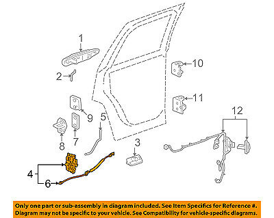 GM OEM Rear Door-Lock Actuator Motor 22862040
