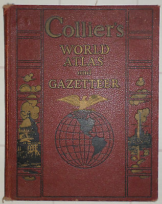 Collier's World Atlas and Gazeteer World and US Maps 1936