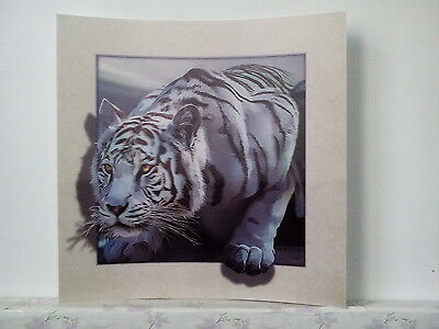 white tiger painting 5D Lenticular  Holographic Stereoscopic Picture Wall Art