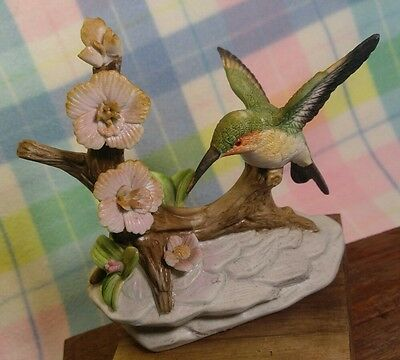 Beautiful Porcelain Hummingbird Figurine
