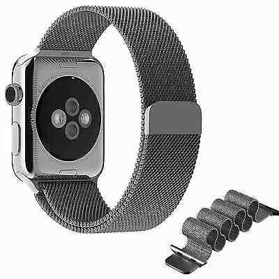 42mm Gray Milanese Magnetic Loop Stainless Steel Wrist Apple iWatch Band Strap