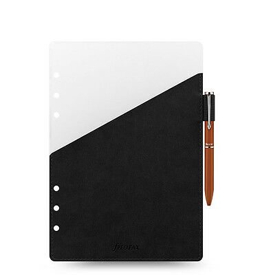 Filofax Organizer A5 Pen Holder Black with Brown Filofax Pen - 341006