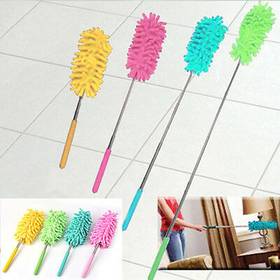 1* Adjustable Soft Chenille Duster Car Home Dust Washing Cleaning Cleaner Brush