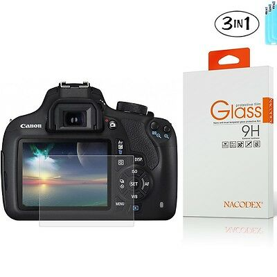 [3x] NX Tempered Glass Screen Protector For Canon EOS Rebel T6 T5 / 1300D 1200D