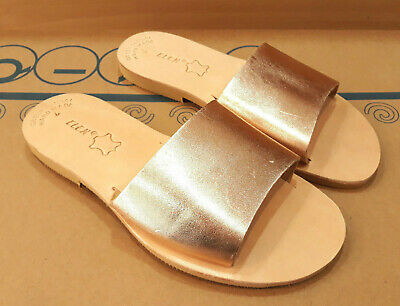 Ancient Greek Womens Sandals Roman Leather Handmade Shoes Gladiator Slide Size
