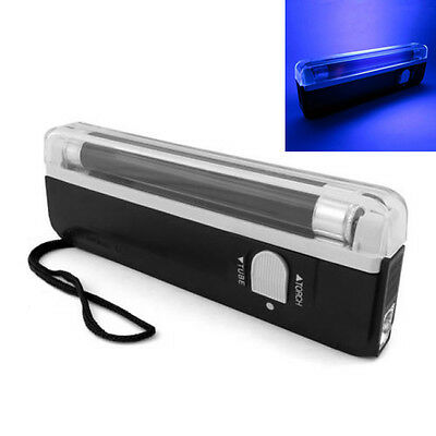 Portable Handheld UV Light Torch Blacklight Counterfeit Bill Detector Currency #