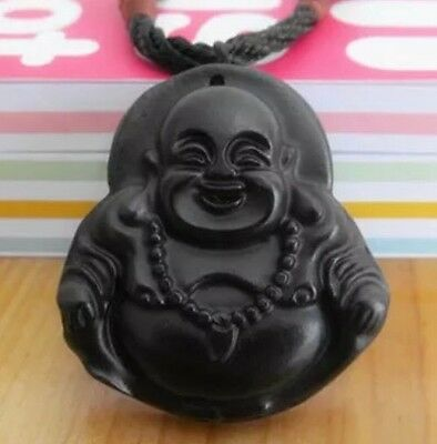 Antique Old Hand Carved Chinese Oriental Amulet Pendant Stone Jade Miao Buddhist