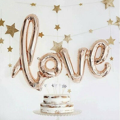 "40"" Love Foil Balloon Wedding Script Handwriting Home Decoration Gold/Rose Gold"