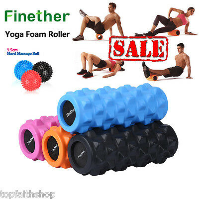 Yoga Foam Roller Textured Grid EVA Beast Massage Fitness Pilates Trigger Point