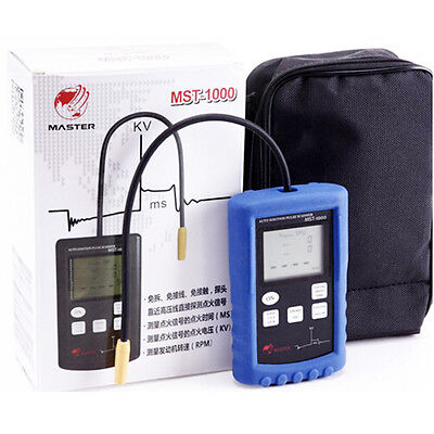 Automotive Digital RPM Tachometer 50KV Ignition Voltage Free Touch Detector Test