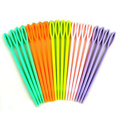 U60 Mix Color Plastic Hand Sewing Needles Knit Crafts Tapestry Darning 20x DIY
