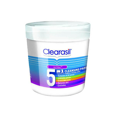Clearasil Ultra 5 in 1 Cleansing Pads x 65 New