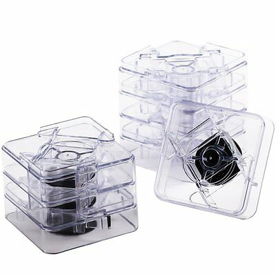 2 Set / 16 PCS Clear Bed Risers Lift Table Furniture Underbed Storage Raise New