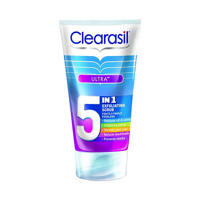 Clearasil Ultra 5 in 1 Exfoliating Scrub 150 ml New