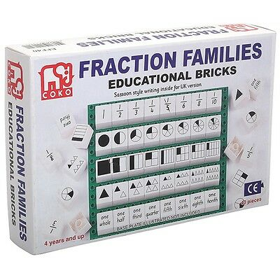 COKO Bricks Fractions 40 Pieces Teacher Resource Maths Homeschool Kids