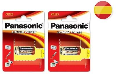 2 x PILA PANASONIC CR123 3V LITIO CAMARA FOTO 123A DL 123A EL CR123AP BATTERY