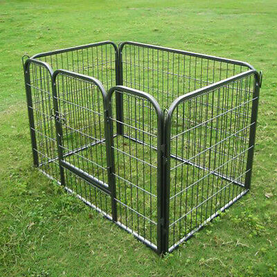 Heavy Duty 4 Piece Puppy Dog Play Pen Run Enclosure Welping Pen Playpen