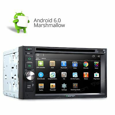 "Double 2Din 6.2"" Android 6.0 Car Stereo DVD Player GPS Unit BT Bluetooth Radio B"