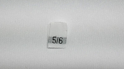"White, woven clothing labels size ""  5/6 ""    (sew On)  290 pieces"