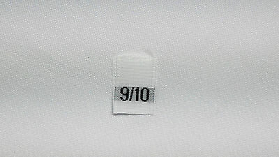 White, woven clothing labels size 9/10   (sew On)  60 pieces