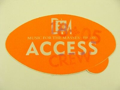 Depeche Mode - Music For The Masses 1987-1988 Access Crew Pass Unused