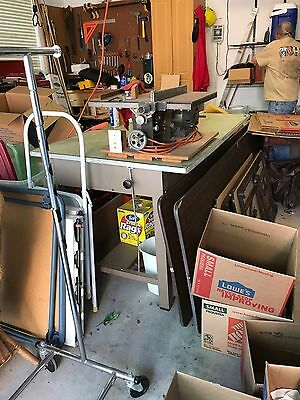 Vintage Industrial Era Metal Architects Drafting Table  In Good Condition