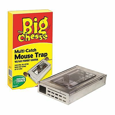 The Big Cheese Multi-Catch MOUSE TRAP , Traps 10 or More Mice in One Setting