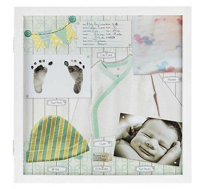 """16"""" x 16"""" White Baby Shadow Box Display Case      BABY SHOWER GIFT New"""