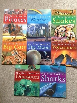 Set of 8 My Best Book of The Moon, Sharks, Dinosaurs, Snakes, Cats....Kingfisher