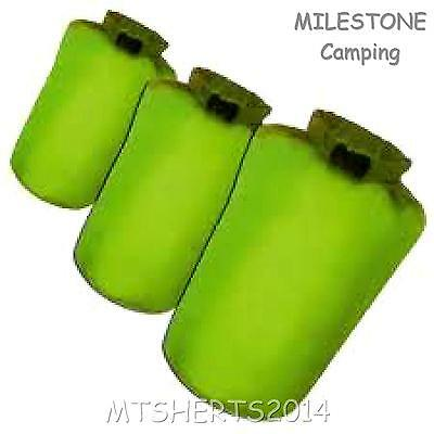Milestone Camping 3 Piece Bags Waterproof Dry Sack Set Hiking Kayaking Boat PC14