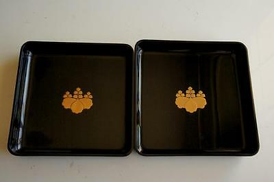 """Black Trays"" Vintage Japanese black trays"