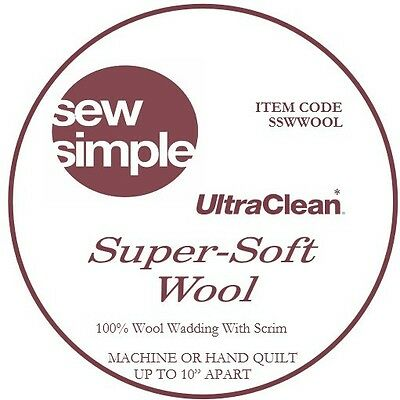 Sew Simple Super-Soft 100% Wool Wadding metre
