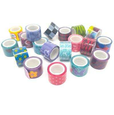 Mini Washi Tapes In Assorted Patterns For Scrapbooks Or Crafts. Pack Of 10.