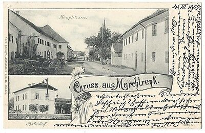 Gruss Aus Marchtrenk, Austria, Old Postcard Postally Used 1900, Marchtrenk p/m