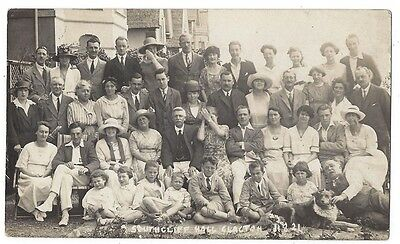 CLACTON ON SEA Southcliff Hall, Group of Gents and Ladies, RP Postcard Unused