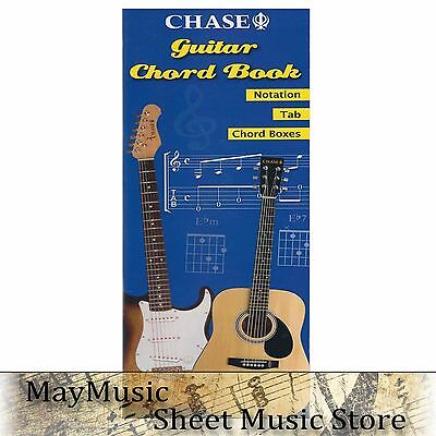 Chase Guitar Chord Case Music Book Notation Tab Boxes Study Guide Reference S134