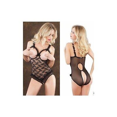 Sexy Lingerie Completo Intimo Donna Body  Bodystocking Pizzo