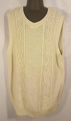 Gymboree Boys Ivory White Knit Sweater Vest Sz Large ( 10-12 ) EUC Cotton Blend