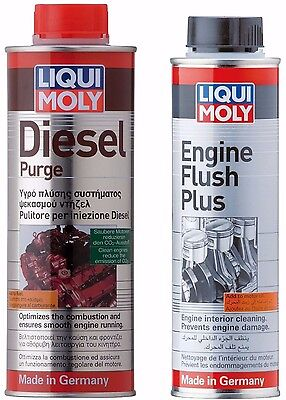 Liqui Moly Engine Flush Plus + Diesel Engine Purge Cleaning Pack 1811+8374