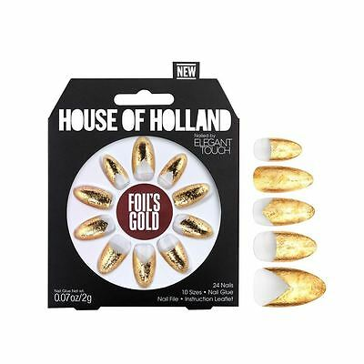 House Of Holland False Nails - Foils Gold (24 Nails)