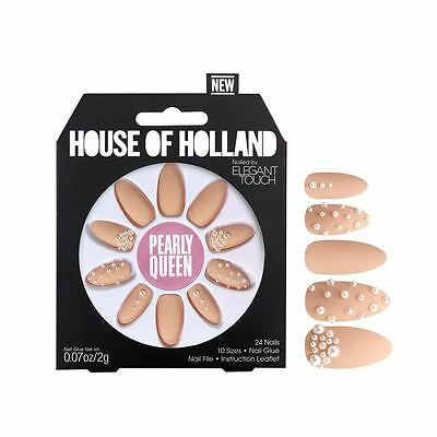 House Of Holland False Nails  - Pearly Queen (24 Nails)