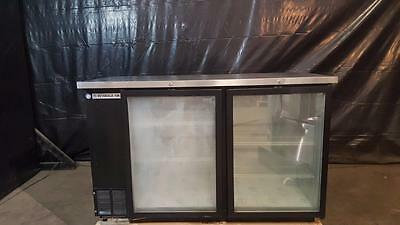 "Beverage Air BB58G-1-B 58"" Back Bar Cooler, Two Glass Swing Doors"