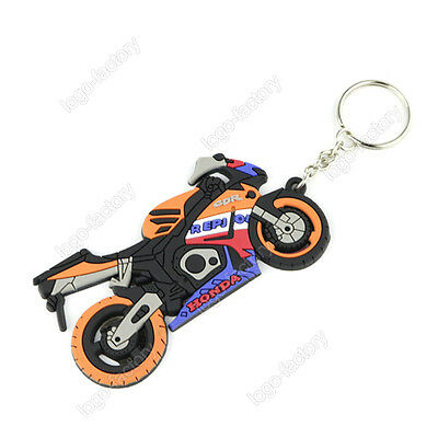 HONDA Repsol Keychain Key Ring Rubber Motorcycle Bike Car Collectible Gift New