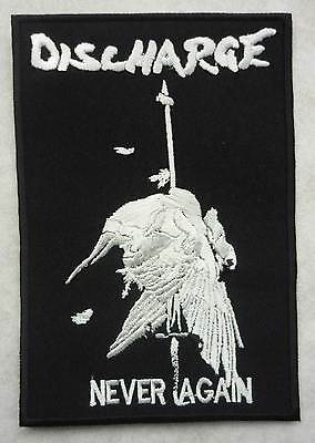 DISCHARGE embroidery patch Disclose Broken Bones The Exploited GBH Varukers Doom