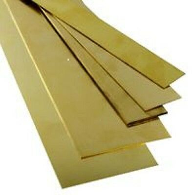 """K & S Metals Brass Strip .064  by  12"""" length, widths vary single strip supplied"""