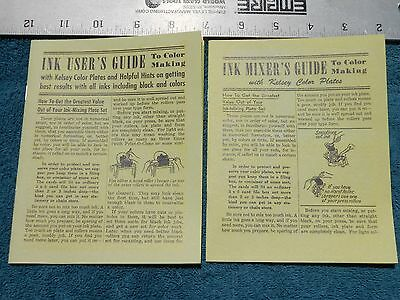 Ink Mixer's Guide AND Ink User's Guide to Color Making by The Kelsey Press Co